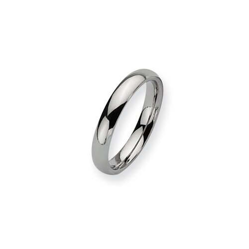 Jewelryweb Stainless Steel 4mm Polished Band Ring