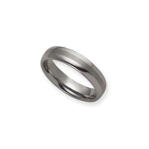 Jewelryweb Tungsten 8mm Brushed and Polished Band Ring