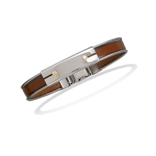 SteelandLeatherMens Ankle Bracelet