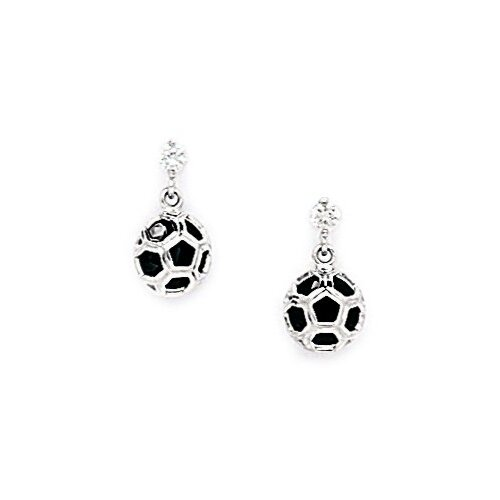 Fancy Ball Cubic Zirconia Drop Earrings