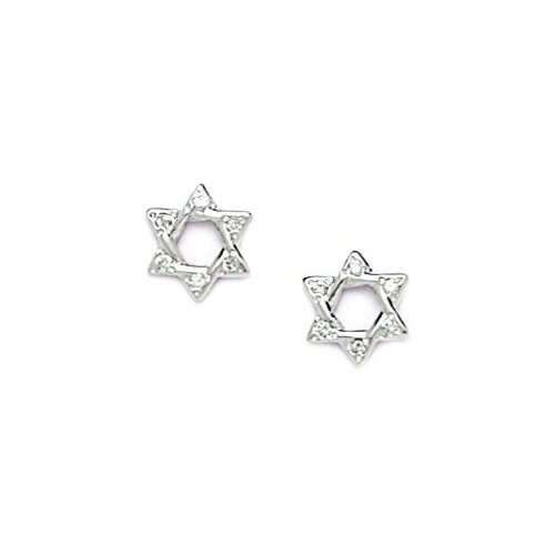 Medium Star Cubic Zirconia Stud Earrings