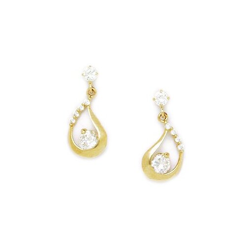 Fancy Cubic Zirconia Drop Earrings