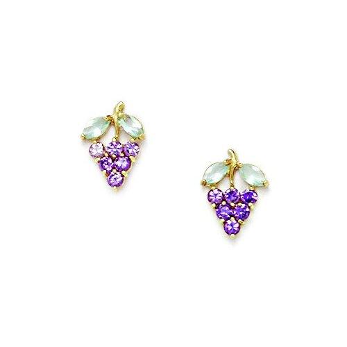 Grapes Cubic Zirconia Stud Earrings