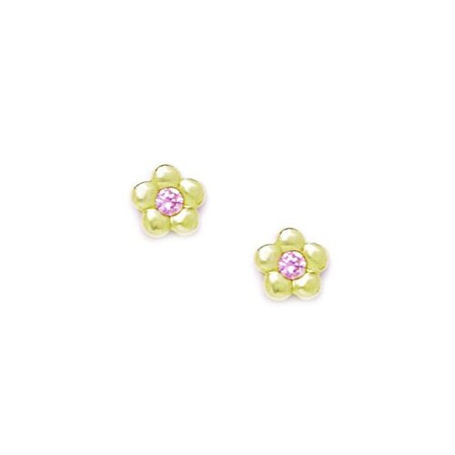 Small Flower Cubic Zirconia Stud Earrings