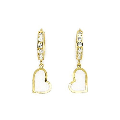 Heart Cut Cubic Zirconia Drop Earrings