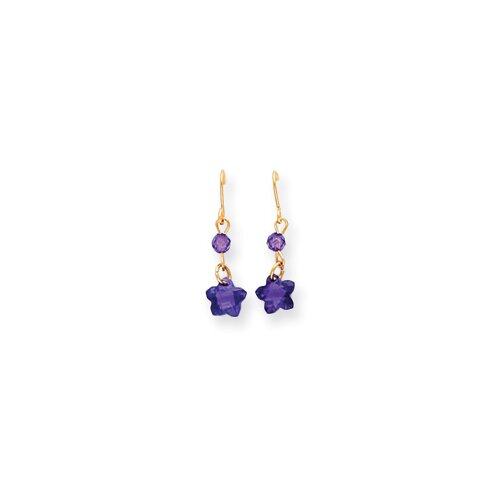 Star Cut Cubic Zirconia Stud Earrings