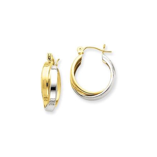 Jewelryweb Double Hoop Earrings