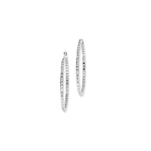 Fascination Round Cut Rough Diamond Hoop Earrings