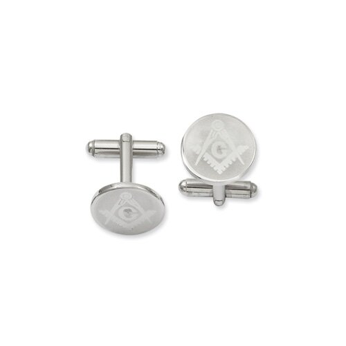 Round Masonic Cuff Links