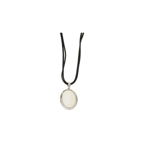 Cultured Pearl Double Cord Locket Necklace