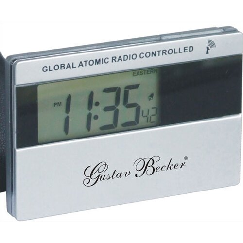 Gustav Becker Pocket Atomic Travel Alarm Clock