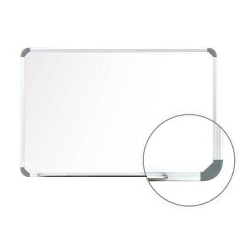 Ghent Aluminum Radial Edge EuroStyle Magnetic Whiteboard 1 Marker & Eraser