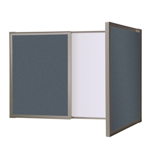Ghent VisuALL PC Fabric Tackboard with Acrylate Whiteboard Inside