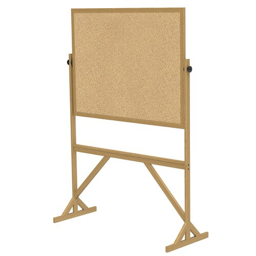 Ghent Reversible Natural Cork Bulletin Board with Wood Frame
