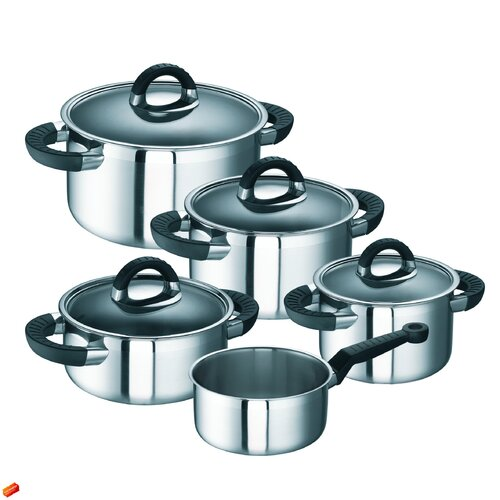 Schulte Ufer Black Betty i 9 Piece Cookware Set