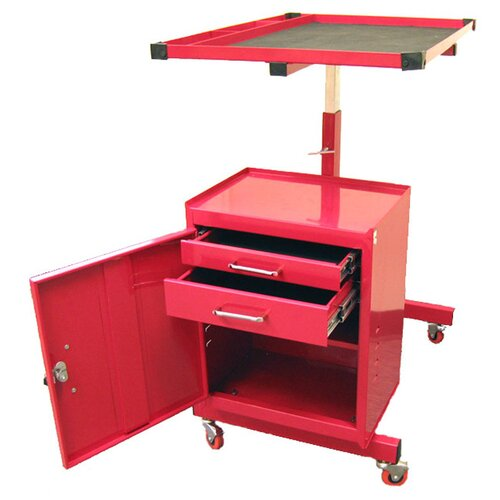 Excel Hardware Adjustable Metal Tool Cart