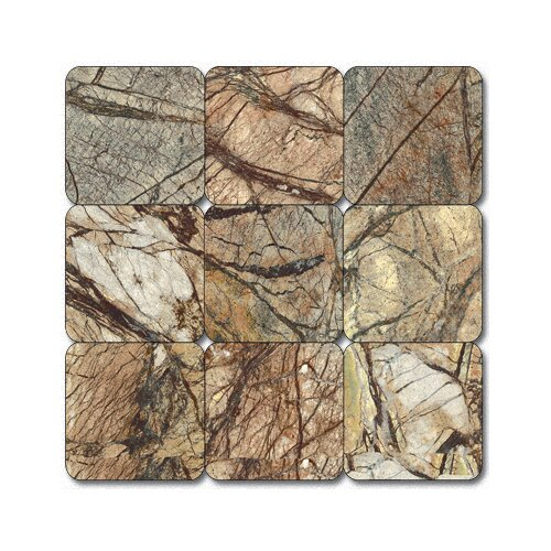 "MS International 2"" x 2"" Tumbled Marble Mosaic in Cafe Forest"