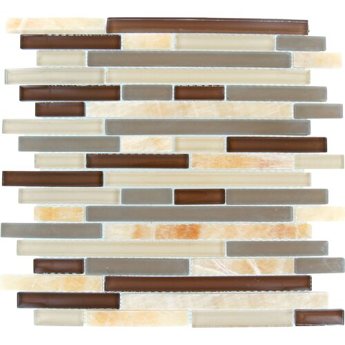 MS International Random Sized Polished Glass Mosaic in Honey Caramel