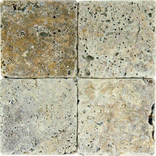Tumbled Travertine Tile in Tuscany Scabas