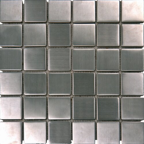 "MS International 2"" x 2"" Metal Mosaic in Silver"