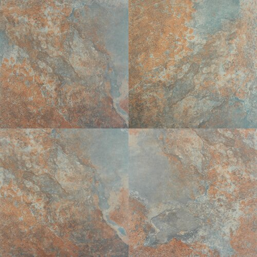 "Tulsa 20"" X 20"" Glazed Porcelain Tile In Rust"
