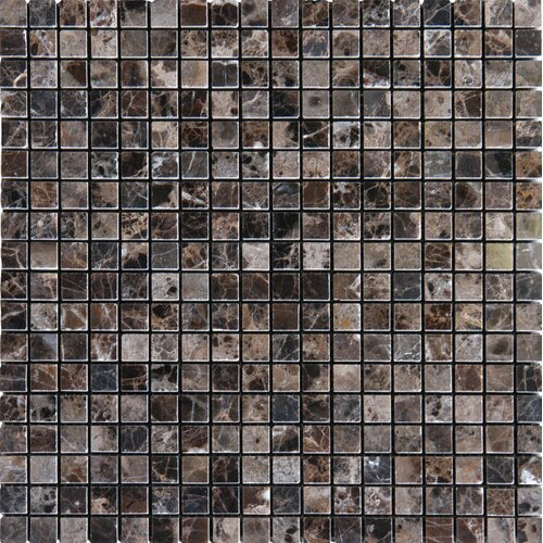"MS International 5/8"" x 5/8"" Polished Marble Tile in Emperador Dark"