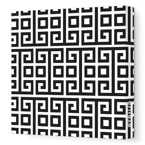 Avalisa Pattern Squares Stretched Canvas Art