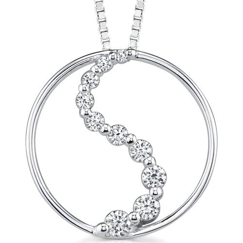 The Eternal Journey: Sterling Silver Bridal Jewelry Eternity Circle Journey Inspired Design ...