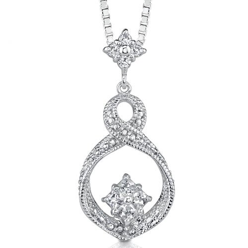 Couture Celebration: Sterling Silver Designer Couture Inspired Dangle Style Pendant Necklace ...