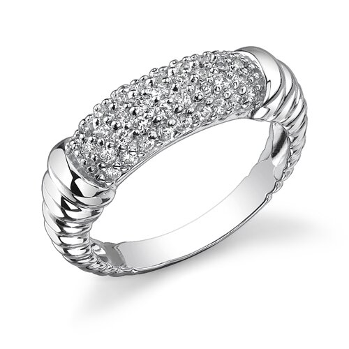 Timeless Romance Sterling Silver Celebrity Inspired Cubic Zirconia Engagement Ring