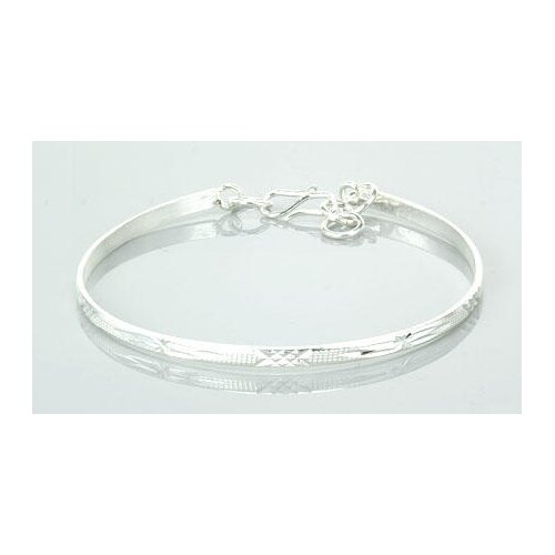 Laser Cut Bangle Bracelet Sterling Silver