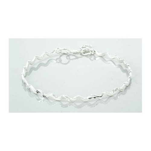 Laser Cut Twisted Bangle Bracelet Sterling Silver