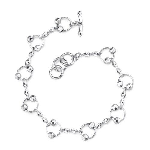 Oravo Stylish and Trendy Sterling Silver Designer Inspired Fancy Link Chain Bracelet