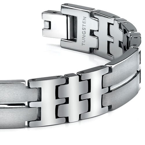 Oravo Matte and High Polished Tungsten Bracelet for Men