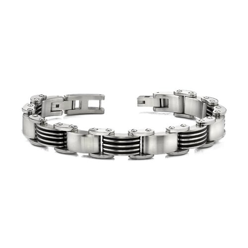 Rugged and Heavy Stainless Steel Mens Link Bracelet