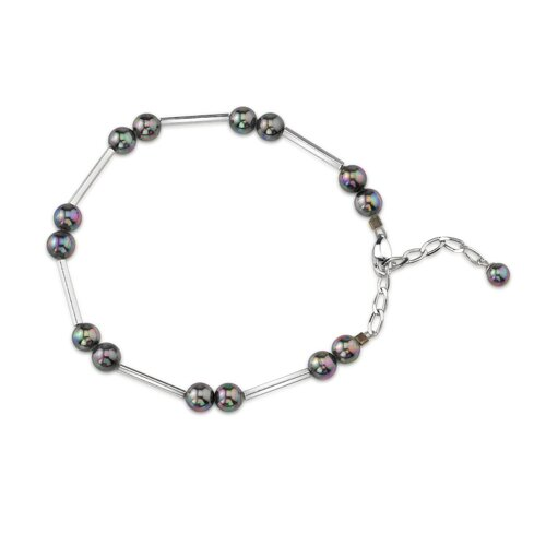 6mm Grey Color Round Majorca Cultured Pearl Bracelet
