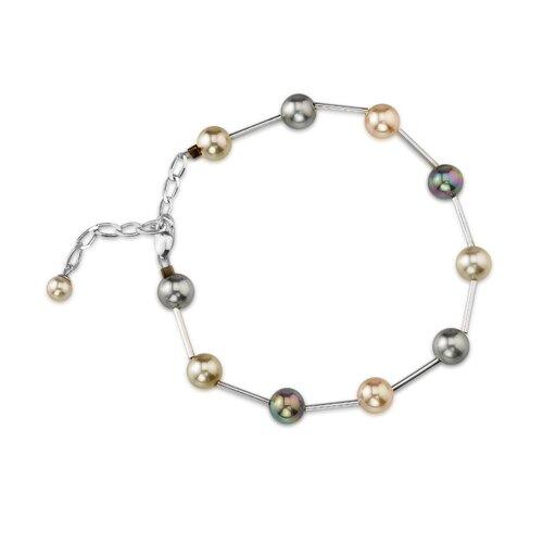 6mm Multi Color Round Majorca Cultured Pearl Bracelet