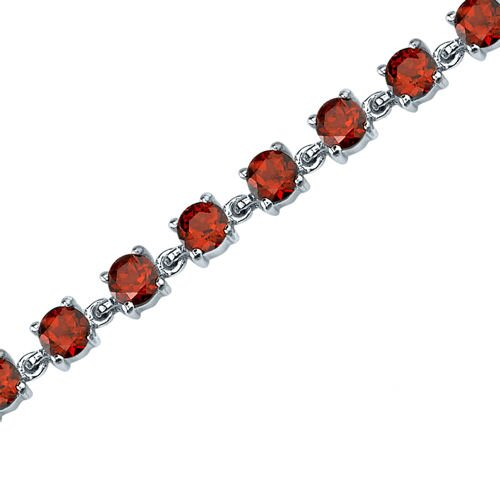 Oravo Eternally Magnificent Round Shaped Gemstone Bracelet in Sterling Silver