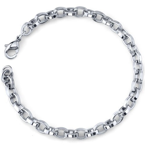 Oravo Effortless Flair Mens Stainless Steel Belcher Link Bracelet