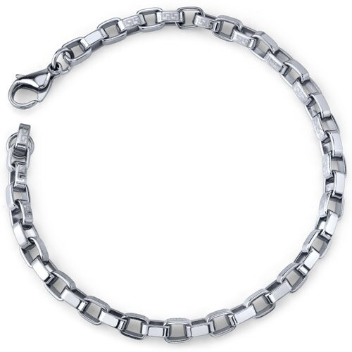 Chic Creation Unisex Stainless Steel Box Link Bracelet