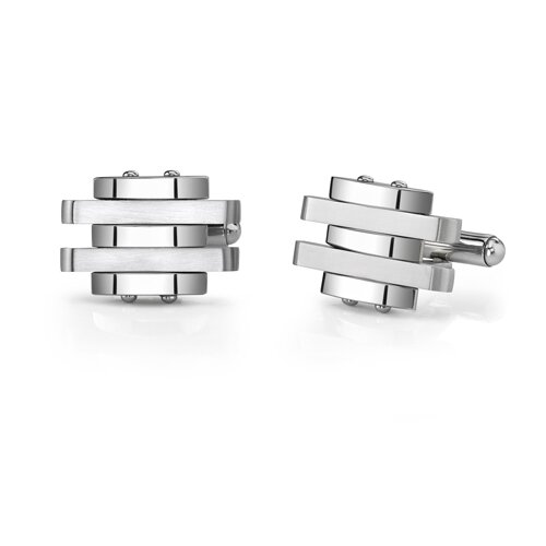 Oravo Stainless Steel Matte Finish Cufflinks for Men