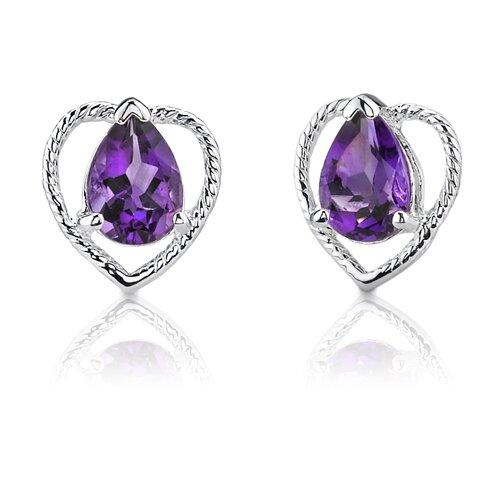 Oravo 1.25 Carats Pear Shape Earrings in Sterling Silver