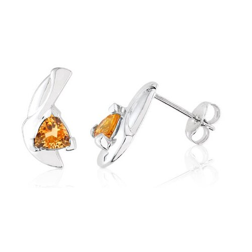 1.80g Trillion Cut Citrine Earrings Sterling Silver
