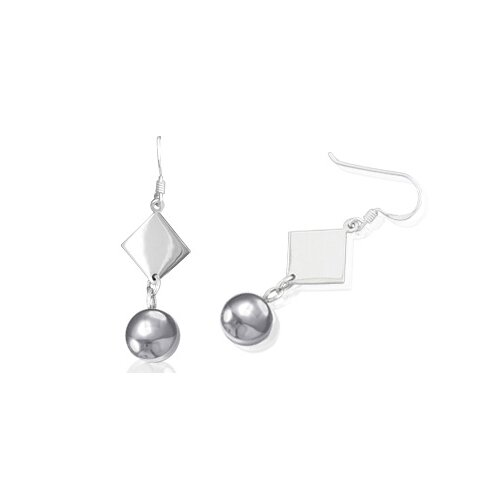 Multishape Dangling Party Earrings in Sterling Silver