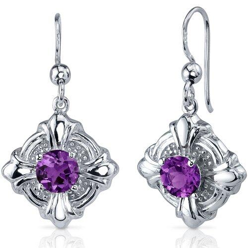 Star Wire Hoop Earrings in Sterling Silver