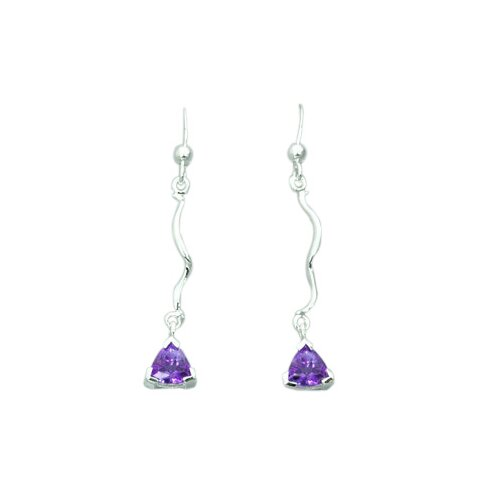 Oravo 1.50 Ct.T.W. Genuine Trillion Cut Gemstone Earrings in Sterling Silver