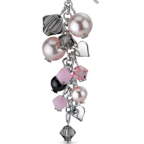 Oravo In Full Bloom Drop Earrings with s and Cultured Pearls Heart Motif in Sterling Silver with Swarovski Elements