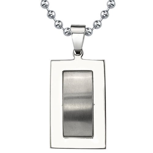 Handsome Style Titanium Dog Tag Pendant for Men on a Steel Ball Chain with a ...