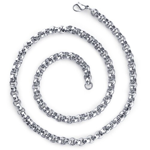 New Classic Mens Stainless Steel Rolo Link 20 Inch Chain Necklace