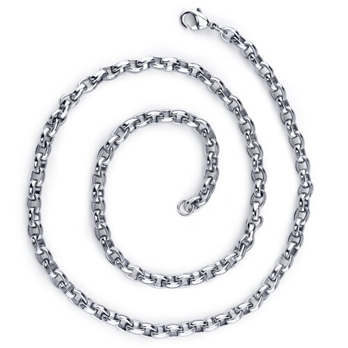 Simple Yet Trendy Mens Stainless Steel Belcher Link 20 Inch Chain Necklace